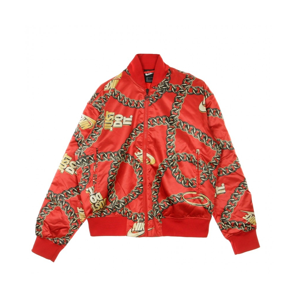 GIUBBOTTO BOMBER FILL ICON CLASH SYNTHETIC UNIVERSITY RED