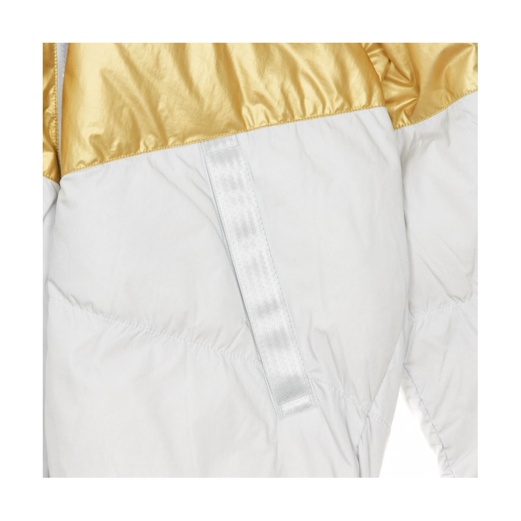 PIUMINO DOWN-FILL JACKET PURE PLATINUM/METALLIC GOLD