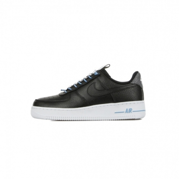 SCARPA BASSA WMNS AIR FORCE 1 07 LUX BLACK/BLACK/LIGHT BLUE/WHITE