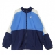 GIACCA A VENTO HOODIE JACKET MIDNIGHT NAVY/PACIFIC BLUE/WHITE