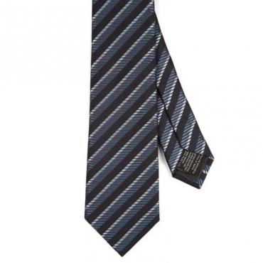 Cravatta in misto seta a righe