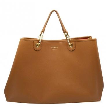 Shopping bag XL Cocco morbida CUOIO/ROSSO