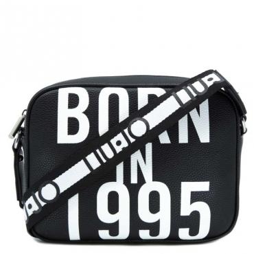 Tracolla nera Born in 1995 e t-shirt in omaggio 22222NERO