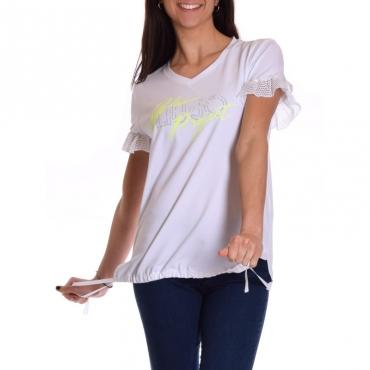 T-shirt manica corta BIANCO