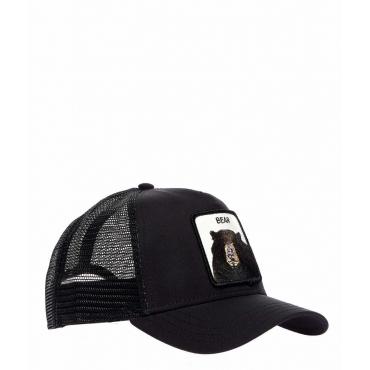 Baseball Cap Bear nero