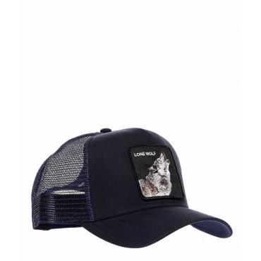Baseball Cap Lone Wolf blu scuro