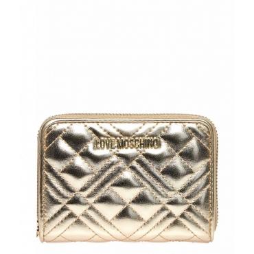 Portafoglio con logo oro
