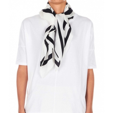 Foulard in seta bianco