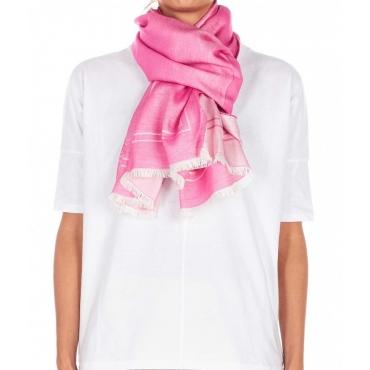 Schal mit Logodruck Pink