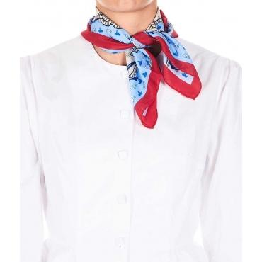 Foulard in seta con stampa rosso