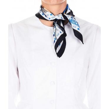 Foulard in seta con stampa nero