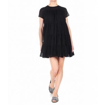 Vestito con balze nero