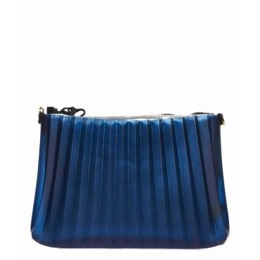 Borsa plissettata blu