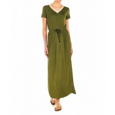 Vestito Jersey verde