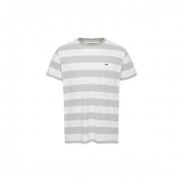 Tshirt Tommy Hilfiger Jeans Uomo Stripe Logo 0FO WHITE