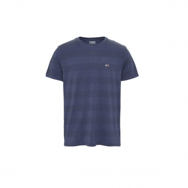 Tshirt Tommy Hilfiger Jeans Uomo Stripe Logo 0ZE NAVY