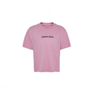 T-shirt Tommy Hilfiger Donna Modern Linear TOU PINK DAISY
