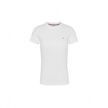 T-shirt Tommy Hilfiger Donna Crew Stretch YBR WHITE