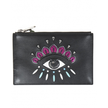 BUSTINA A5 EYE CLUTCH NERO