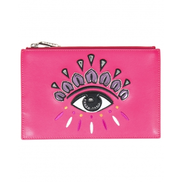 BUSTINA A5 EYE CLUTCH ROSA