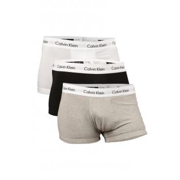 3 BOXER LOW RISE TRUNKS NERO