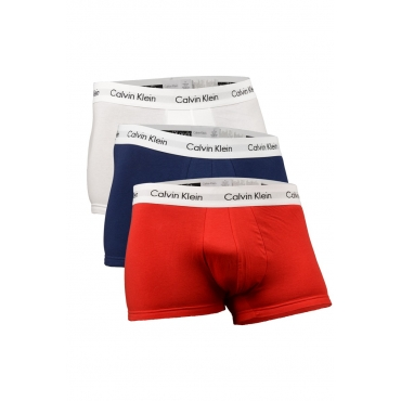 3 BOXER LOW RISE TRUNKS ROSSO