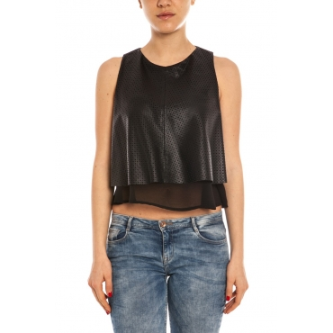 T-SHIRT TOP ERMELINDA NERO