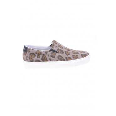 MOCASSINI SCARPE SLIP ON MARRONE