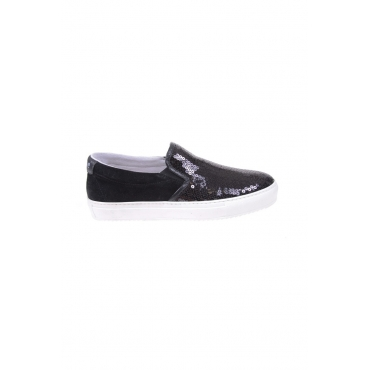 MOCASSINI SCARPE SLIP ON NERO