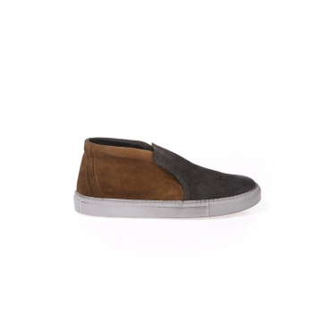 STIVALETTI SCARPA SLIP ON ALTA MARRONE