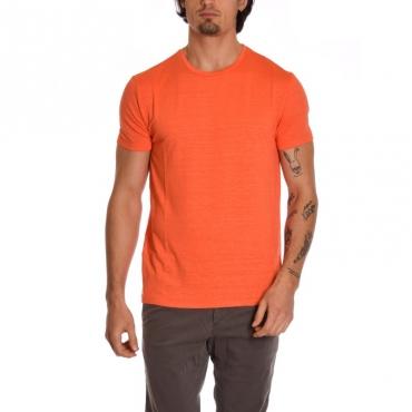 T-shirt paricollo basica ARANCIO