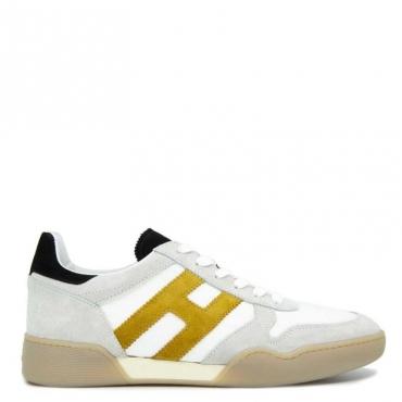 Sneakers in cuoio scamosciato e tessuto H357 B001+G400+B9