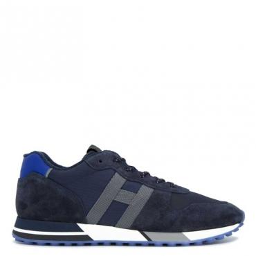 Sneakers in cuoio e tessuto H383 U801+U615+B6