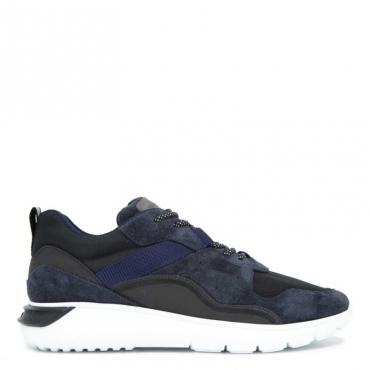 Sneakers Interactive3 in cuoio blu scuro B999+U801