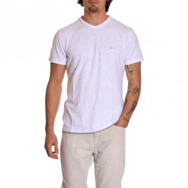 T-shirt scavo v BIANCO