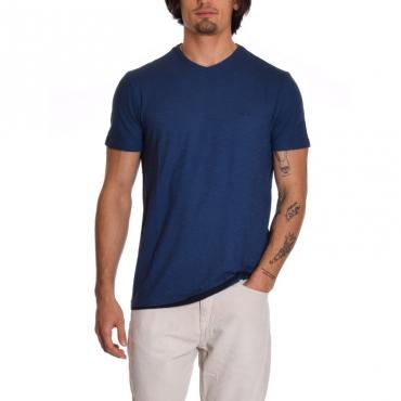 T-shirt scavo v BLU