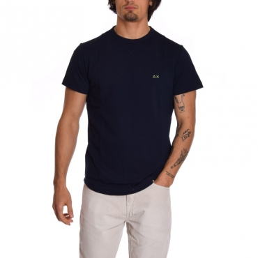 T-shirt piquet logo NAVY