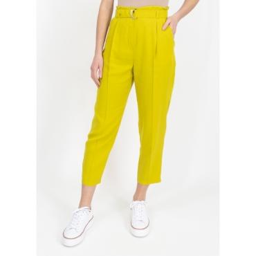 Pantalone cargo giallo con cintura LIME