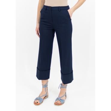 Pantalone cropped blu navy