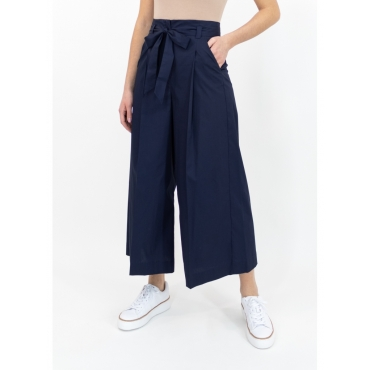 Pantalone con fiocco in cotone BLU NOTTE