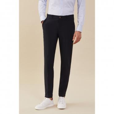 Pantalone Roberto Ricci Design Uomo Chino Stretch 60 BLUE BLACK