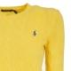 Pullover a trecce giallo in lana e cashmere RACINGYELLOW