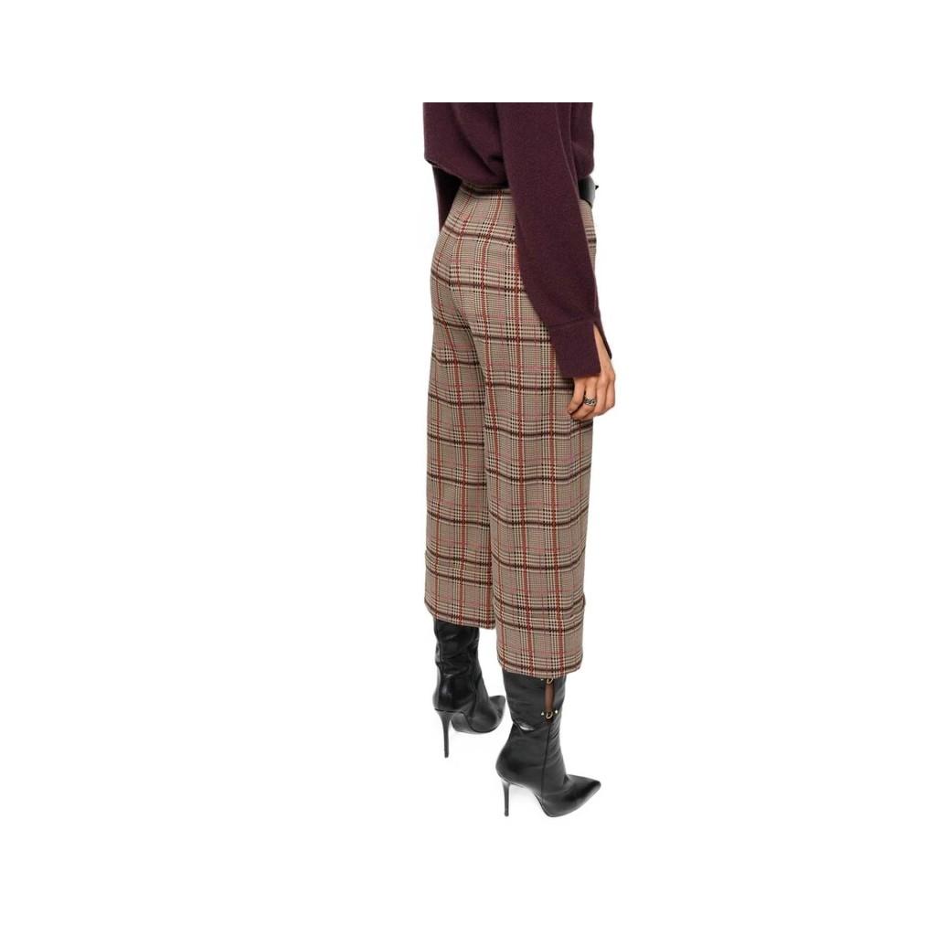 Pantaloni cropped a quadri a vita alta CY7MULTCAMME