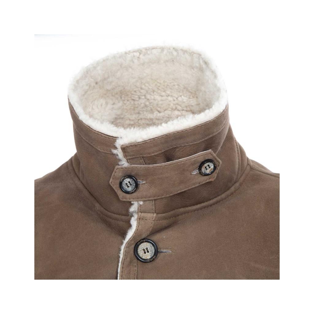 Cappotto in vera pelle nappata con pelo CUBANO