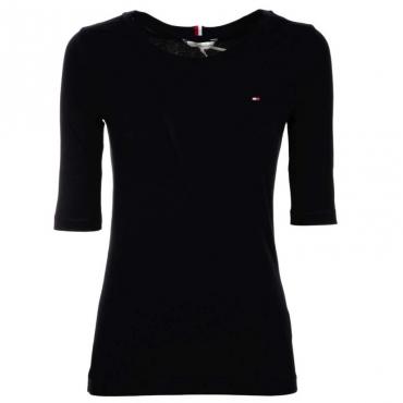 T-Shirt in cotone organico con logo BDS BLACK