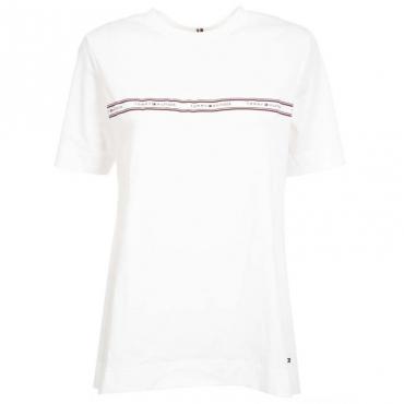 T-Shirt bianca con fascia logata YBR WHITE