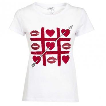 T-shirt con stampa glitterata U9683BCOOTTA