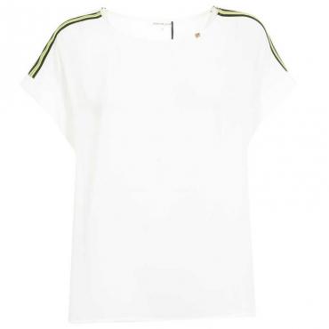 T-Shirt semitrasparente con bande fluo Jurua 60725