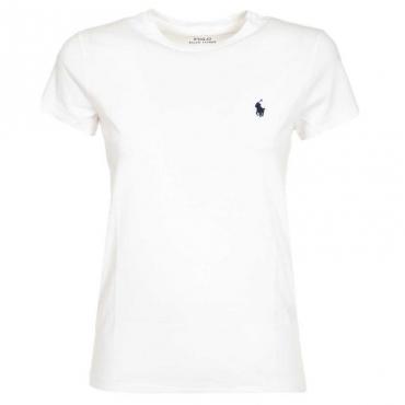 T-Shirt classica bianca con logo WHITE
