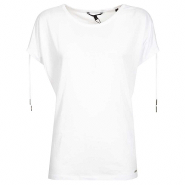 T-shirt con laccetti sulle maniche OFF WHITE